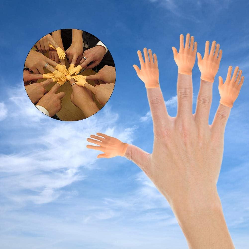 Herbests 10 St/ück Tiny Hand Fingerpuppen Linke und Rechte Hand Zaubertricks f/ür Familie Freund Spiele Party,Kleiner Finger Props Mini Gummi Finger H/ände Fingerpuppen Set,Weihnachten Handzubeh/ör