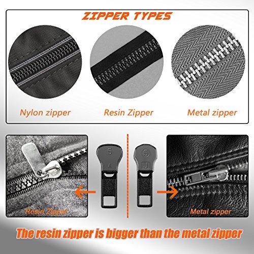 BTNOW 45 Pieces Zippers Repair Kits Replacement Zippers Zipper Rescue Kit for Resin Zipper and Metal Zipper Repair