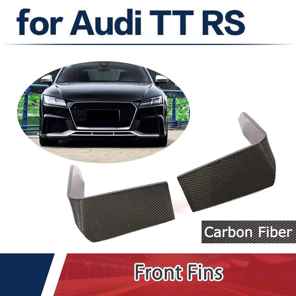 JC SPORTLINE Fits for Audi TTRS 2-Door Coupe Front Bumper Splitters Fins Carbon Fiber 2016 2017 2018