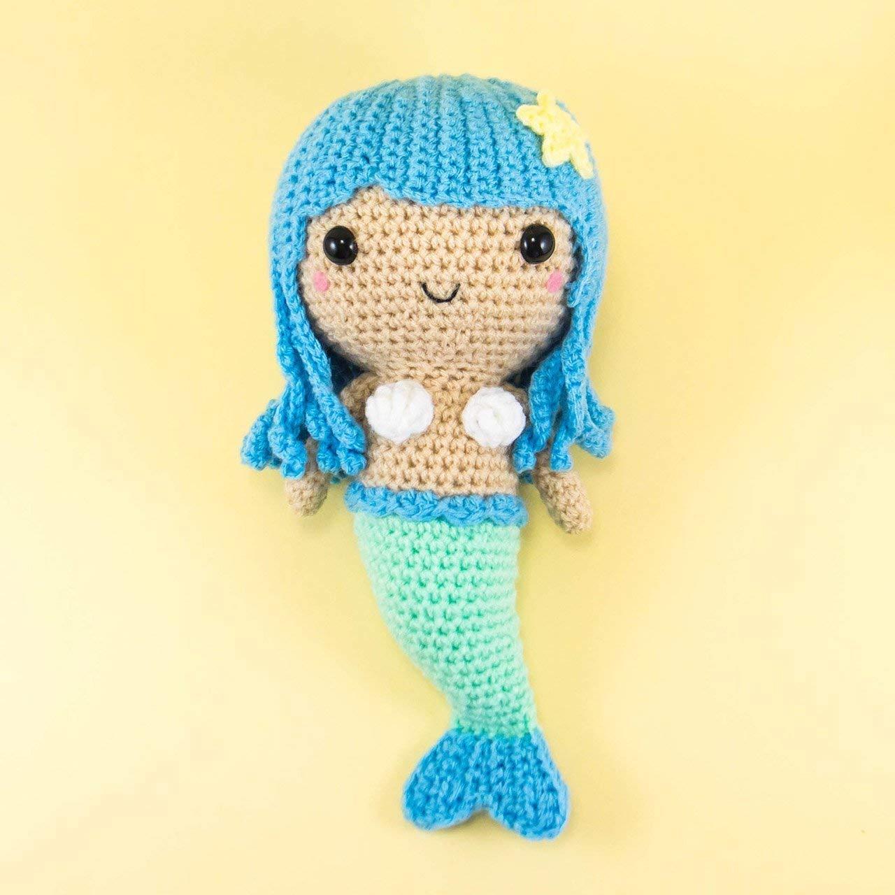 The Friendly Mermaid Crochet Doll - thefriendlyredfox.com | 1280x1280