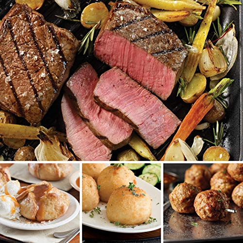 Omaha Steaks the Classic Christmas Gift Pack (13-Piece with Top Sirloins, All-Beef Meatballs, Potatoes Au Gratin, and Individual Caramel Apple Tartlets)