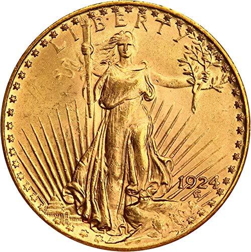 1924 P $20 Saint Gaudens Gold Twenty Dollar MS64 NGC ()