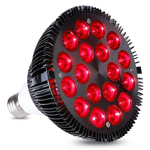 KINGBO 36W All Deep Red 660nm LED Grow Light Bulb for Indoor Plants Flowering Bloom and Fruiting, Grow Spectrum Enhancement and Light Therapy. KINGBO LED