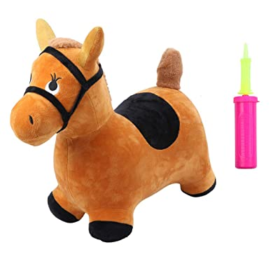 Fenleo Kids' Toy Hopping Horse Outdoors Ride On Bouncy Animal Play Toys Inflatable Hopper: Home & Kitchen