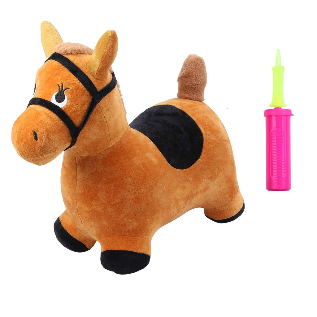 Rigel7 Hopping Horse Activity Toy Outdoors Ride On Bouncy Animal Play Toys Inflatable Hopper Kids Toddlers Boys Girls Jumping Gifts by Rigel7