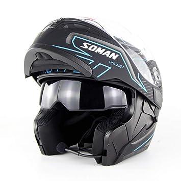GWJ Motocicleta Motocross Bluetooth Cascos Dot Modular Flip ...