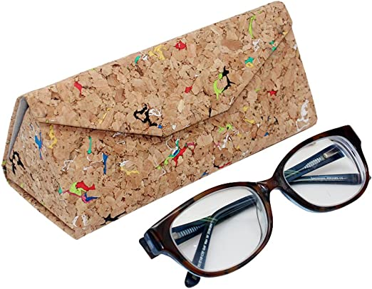 Vegan Supplies slim design Foldable Protective Case for Glasses cork eco-fri