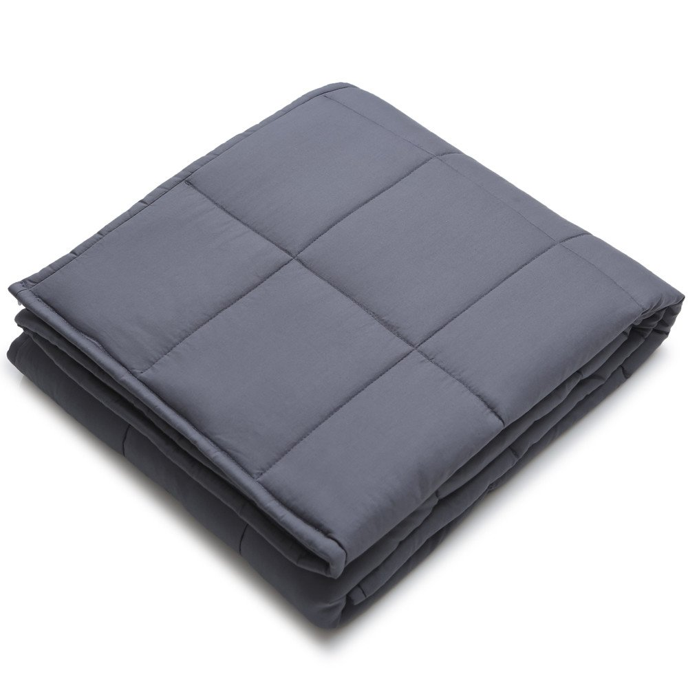 Weighted Blanket by YnM for Adults, Fall Asleep Faster and Sleep Better, Great for Anxiety, ADHD, Autism, OCD, and Sensory Processing Disorder(48''x72'')(15 lbs for 140 lbs individual) by YnM (Image #2)