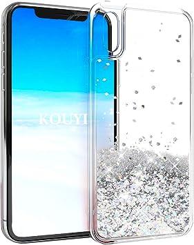 KOUYI Funda iPhone XR, Brillo Liquida Claro 3D Bling Cubierta ...
