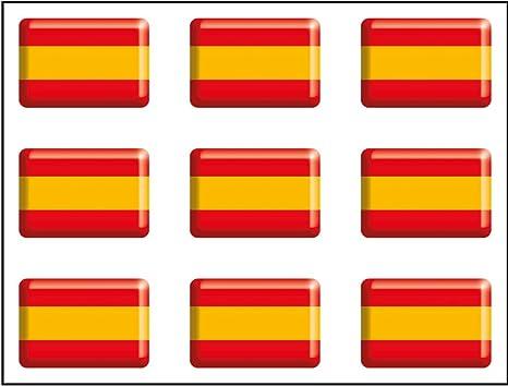 Artimagen Pegatina Bandera Rectángulo 9 uds. España Resina 16x11 ...