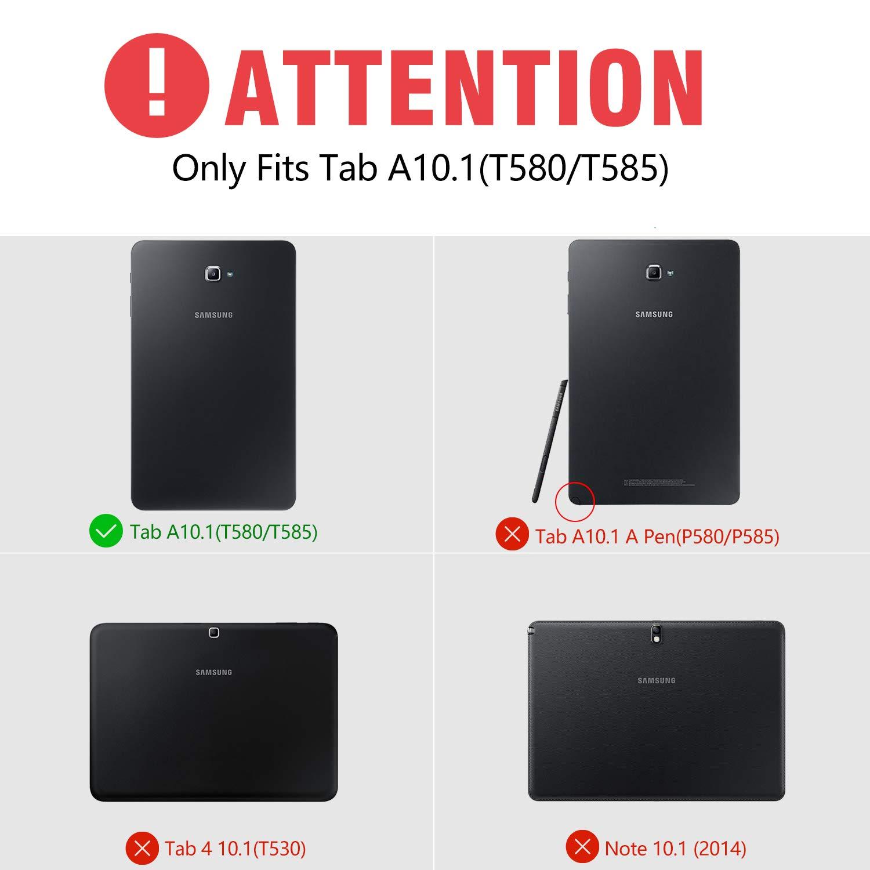CHESONA Galaxy Tab A 10.1 Keyboard Case Compatible Samsung Galaxy Tab A 10.1 inch SM-T580/T585 Ultra Slim PU Leather Stand Flip Detachable Wireless ...
