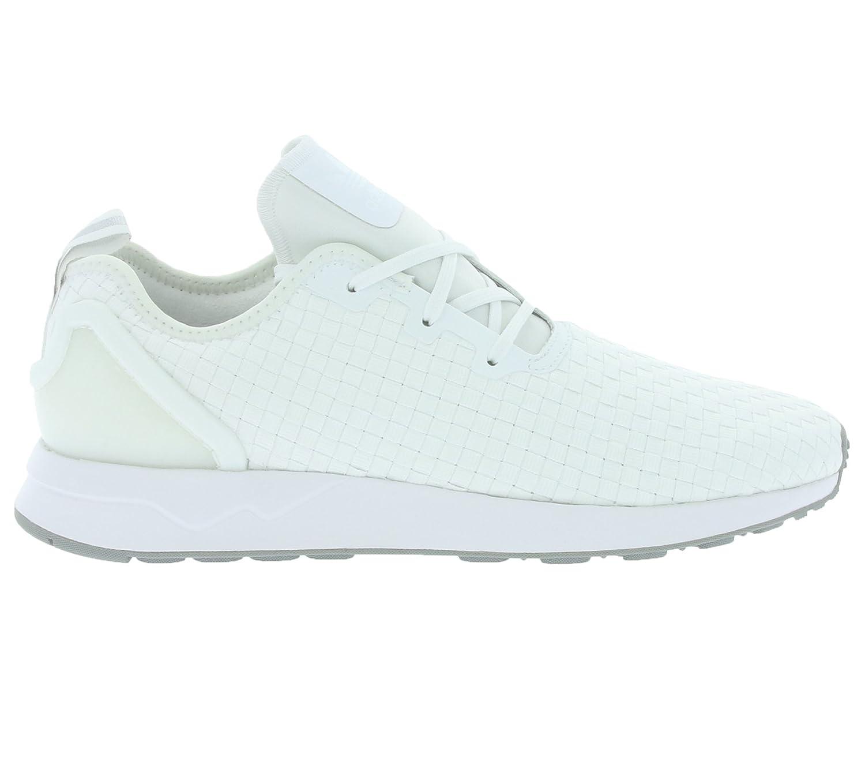 c19dad27f2c66 adidas Men s Originals Zx Flux Asymmetrical Trainers in White   Amazon.co.uk  Shoes   Bags