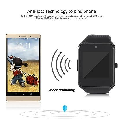 GT08 - Reloj inteligente con Bluetooth 2G resistente al agua y TFT, pantalla LCD de