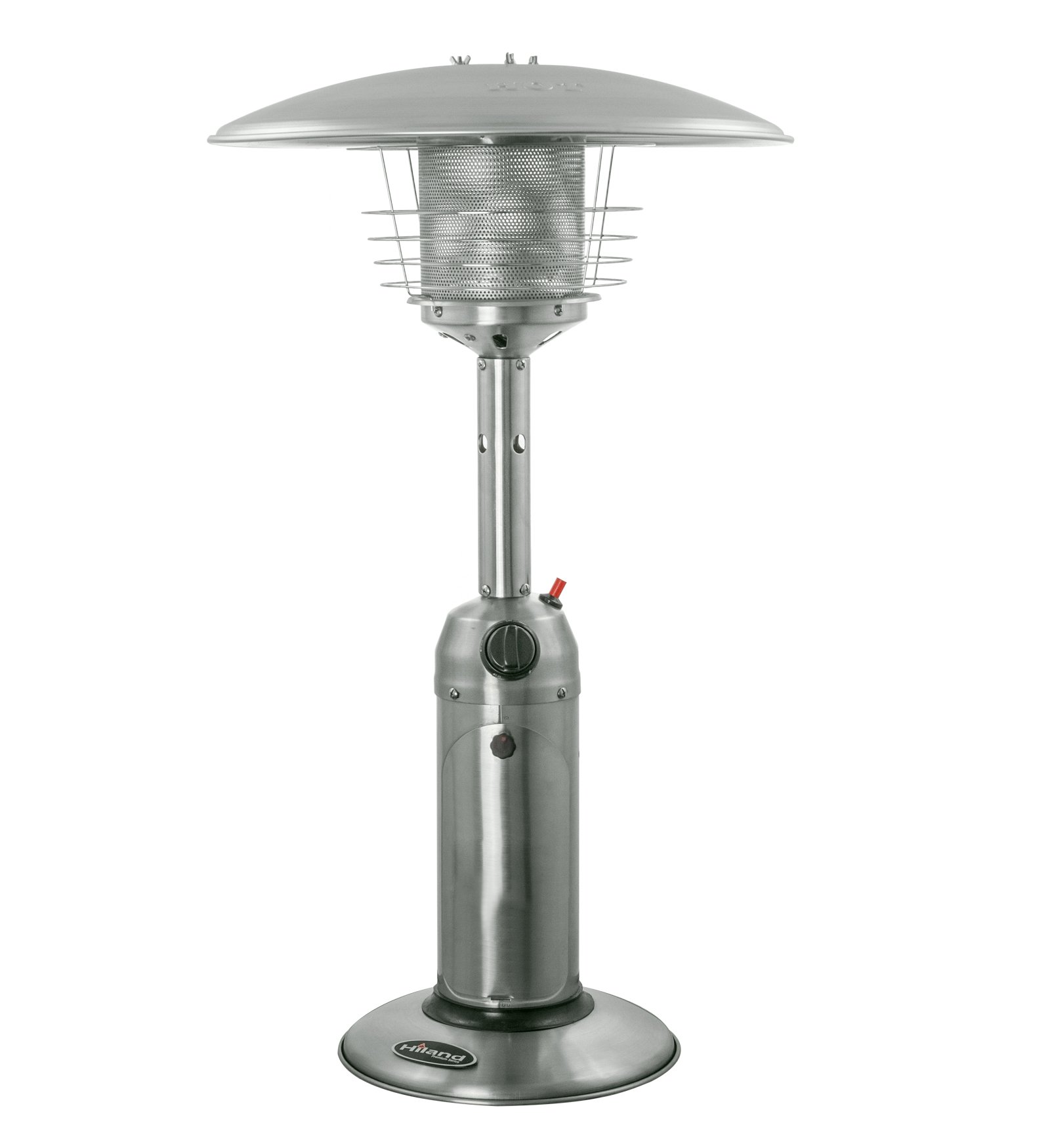 Hiland HLDS032-B Portable Table Top Patio Heater, 11,000 BTU, Use 1lb or 20Lb Propane Tank, Stainless Finish by Hiland