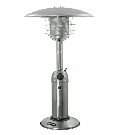 Hiland Hlds032 B Portable Table Top Patio Heater 11 000 Btu Use 1lb Or 20lb Propane Tank Stainless Finish