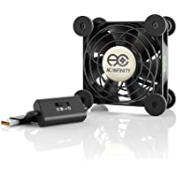 AC Infinity MULTIFAN S1, Quiet 80mm USB Fan, UL-Certified for Receiver DVR Playstation Xbox Computer Cabinet Cooling