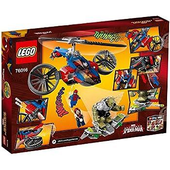 amazoncom lego super heroes 76016 spiderhelicopter