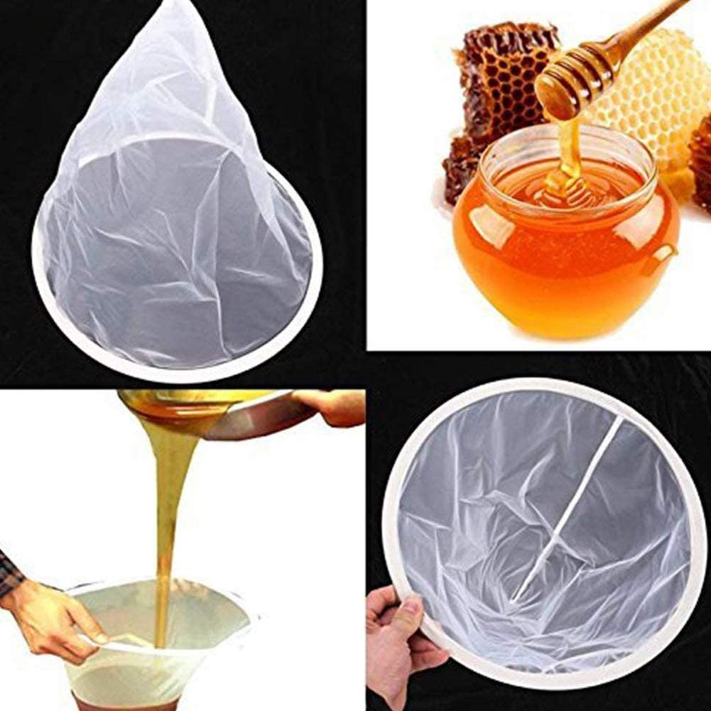 Hemore 2PCS Nylon Filtro Filtro setaccio Netto Netto Honey Apiary Attrezzature Apicoltura Strumenti per Miele trasformazione Estrazione e Filtro per Animali