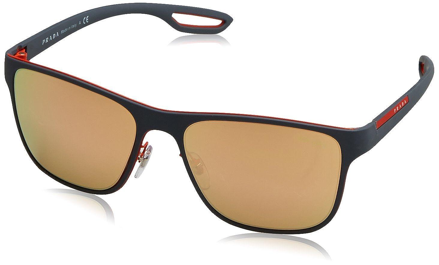 ee017d9bc19 Amazon.com  Prada Linea Rossa Men s PS 56QS Sunglasses 56mm  Clothing