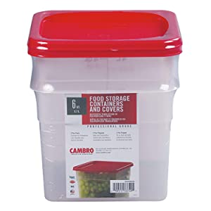 Cambro 6SFSPP190 6 Qt. Translucent Container With SFC6451 Winter Rose Lid - Pack of 2