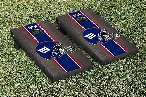 - Victory Tailgate NFL New York Giants Onyx Stained Stripe Version Football Cornhole Game Set, 24