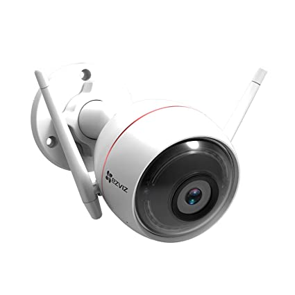 Ezviz Full HD 1080p Wi-Fi Outdoor Smart Home Security Camera, Works with  Alexa and Google Assistant (UK Plug)