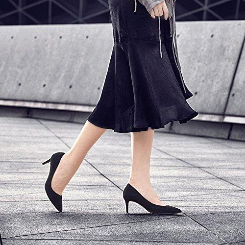 Pelle Scarpe Scarpe Donna Professionali Da Da Tacchi 5cm Scarpe Alti Scarpe Da Agnello 36 Donna Nera Ginnastica EU In Scrubs 6 UK Black 4 0Iwvx
