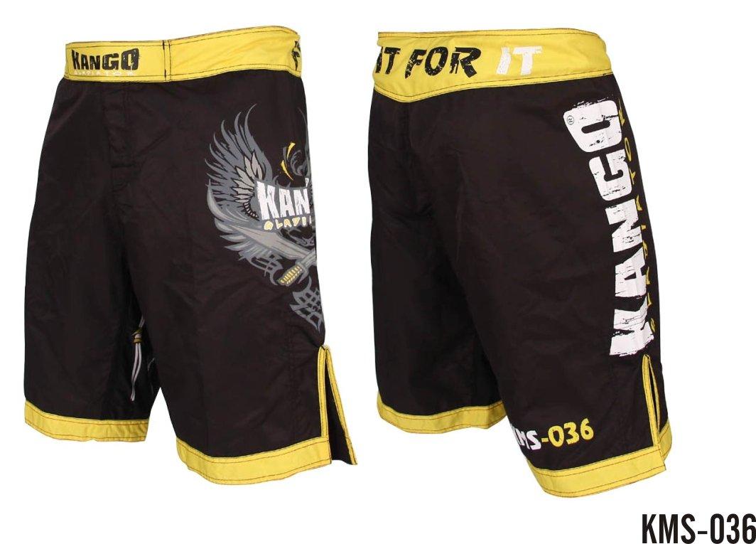 DUOGEAR S/&S BLACK WHITE KICKBOXING THAI FIGHTER SHORTS