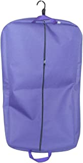 product image for BAGS USA 36 Inch Garment Bag 600 Denier Polyester,Two Pockets,Carry on Bag Made in U.s.a.(Purple)
