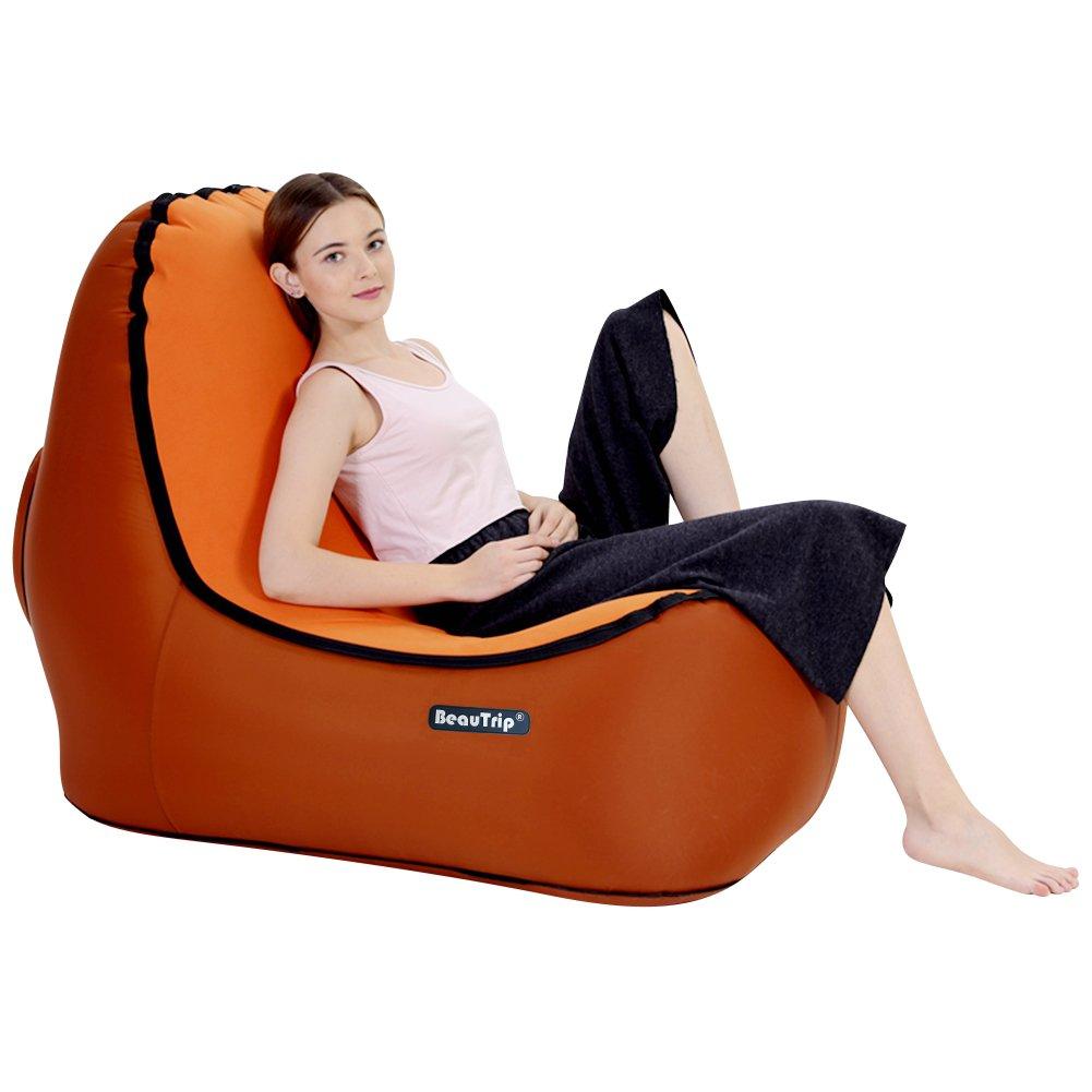 Beautrip Poltrona gonfiabile per esterni, incredibile design ergonomico,ideale per picnic, campeggio, spiaggia, uscite, godetevi il tempo all'aria aperta Prezzi offerte