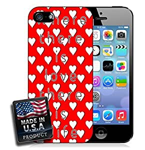 Love and Red Hearts Quote iPhone 4/4s Hard Case