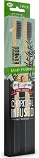 product image for My Magic Mud - Earth-Friendly Bamboo Toothbrush, Activated Charcoal Infused, Sustainably Produced, Soft Bristles, 2 Pack