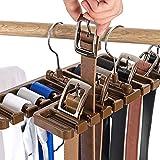10 Slot Closet Storage Rack Tie Belt Scarf Organizer Black Beige Brown 3-Pack