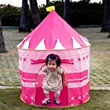 Tent-Kids-Pink-Portable-Folding-Princess-Play-Tent-Children-Kids-Castle-Cubby-Play-House