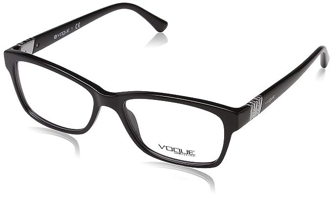 ce9f2f00a9346b VOGUE Monture lunettes de vue VO 2765B W44 Noir 53MM  Amazon.fr ...