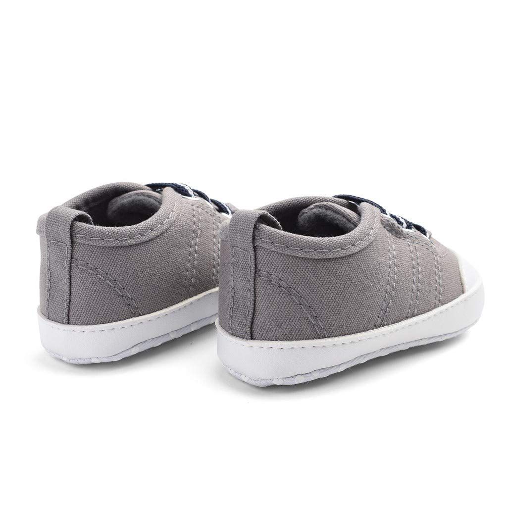 Kimanli Newborn Baby Boys Candy Color Sewing Anti-Slip First Walkers Soft Sole Shoes