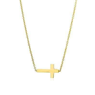 Goldkette damen kreuz  Miore Damen Gelbgold Kreuz Halskette 14KT (585) von 43 cm ...