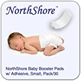 NorthShore Disposable Baby Diaper Doubler w/ Adhesive, Small, 30