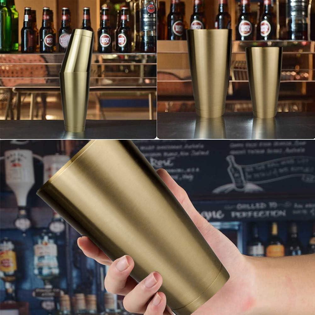 titanium golden Boston Shaker Edelstahl Robust Langlebig Cocktail Cup Shaker Bar Home Kitchen Tool