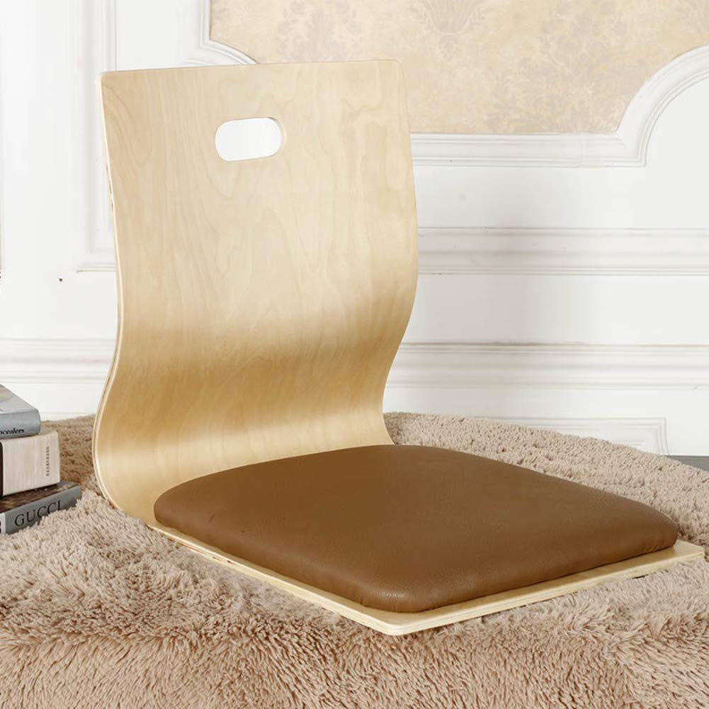 D&W Floor Chair, Foldable ergonomics Mediation Seating with Back Support Video-Gaming Reading Cushioned Recliner -J