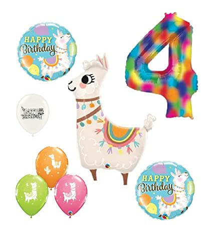 Amazon Llama Alpaca 4th Birthday Party Decorations Bouquet Of