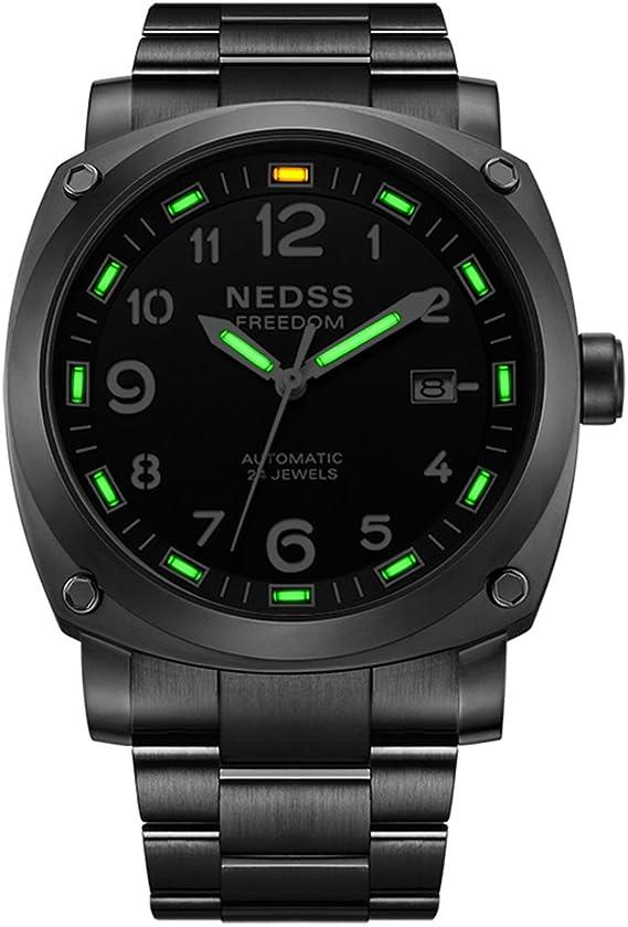 Luxury Brand NEDSS tritium Gas Luminous Men Watch Top Brand