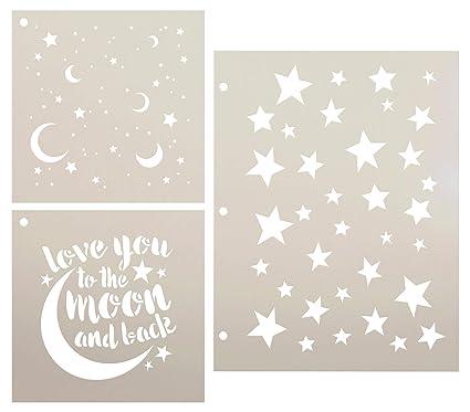 Amazon.com: Juego de plantillas con diseño de estrellas y ...