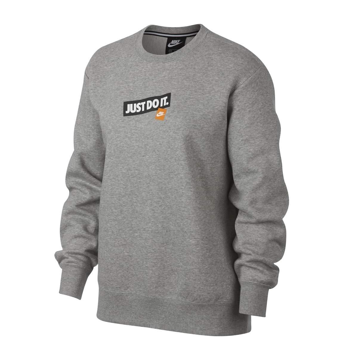 ba34061a1422 Amazon.com  Nike Women s Logo Sportswear Sweater Grey AQ0243-063  Shoes