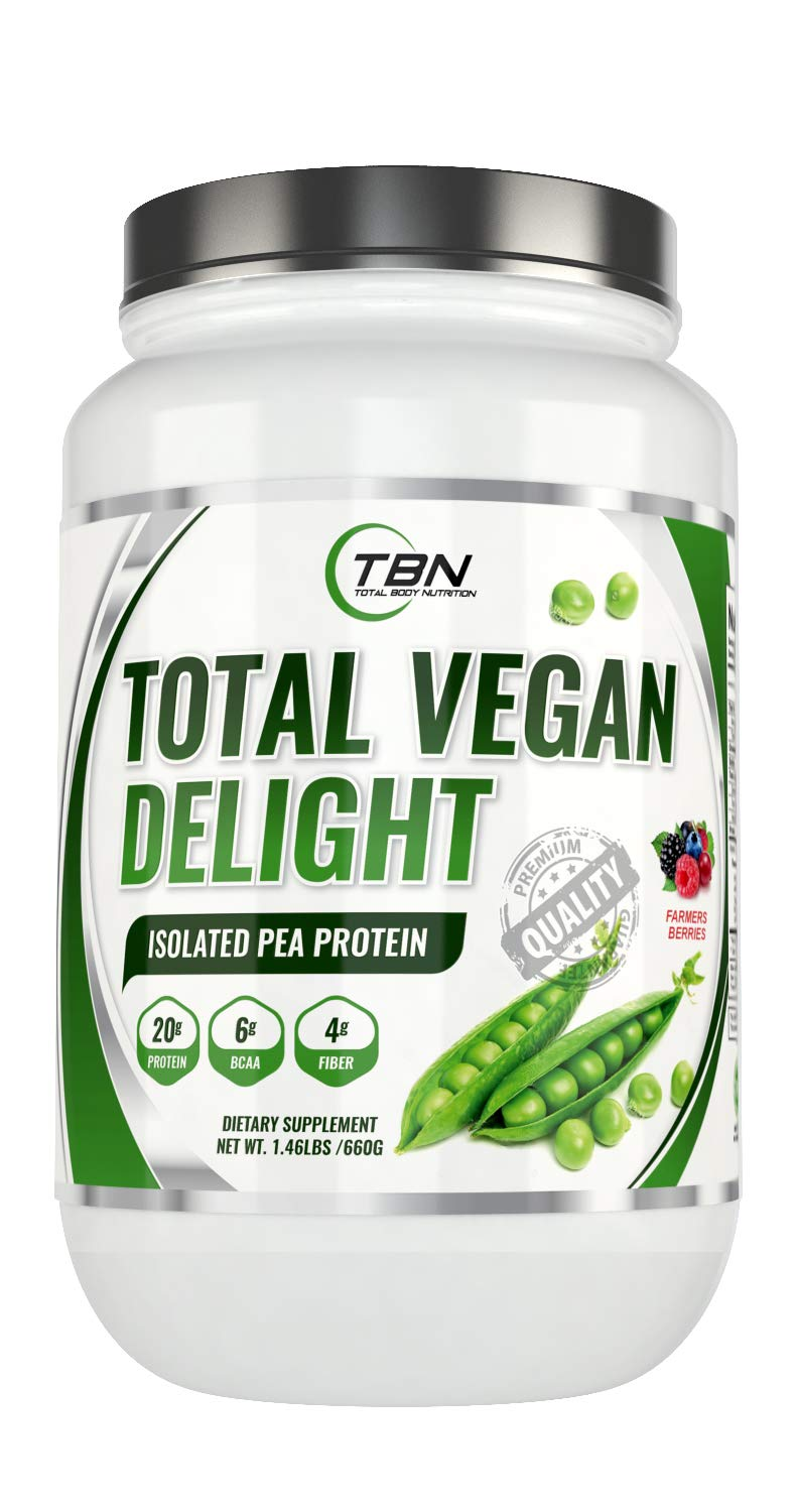 Plant Based Isolated Protein''Total Vegan Delight'' with GMO Free-Organic Super Fruits Enriched. The Best Vegan Friendly Protein in 2018.
