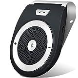Bluetooth Car Speakerphone, Aigital Bluetooth Handsfree Speaker Motion AUTO ON Car Kit Stereo Music Player Wireless Sun Visor