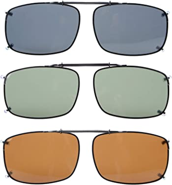 "Eyekepper 2 5/16""x1 5/8"" Large Clip-on Sunglasses Polarized"