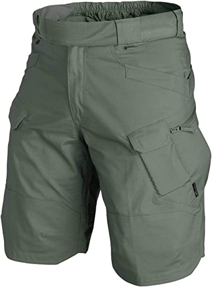 TALLA XXL. URBAN TACTICAL SHORTS®–Polialgodón Ripstop–Olive Drab, pantalones cortos