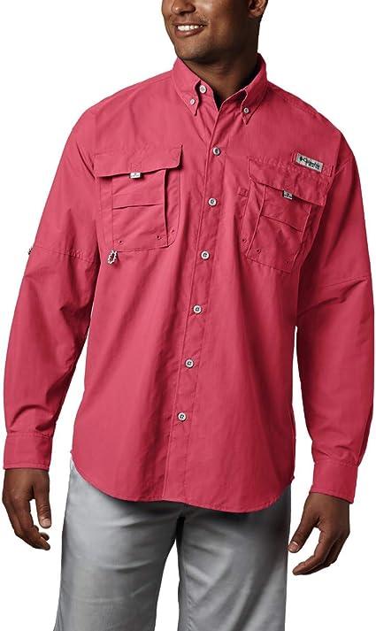 Columbia Bahama II Camisa de Manga Larga para Hombre, Hombre, Bahama II L/S Shirt, Rojo Atardecer, Extra-Large: Amazon.es: Deportes y aire libre
