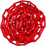 Mr. Chain 51005-50 Heavy Duty Plastic Barrier Chain, 2'', 50', Red